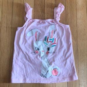 Gymboree Waster Bunny Shirt Glitter Bow Size 5